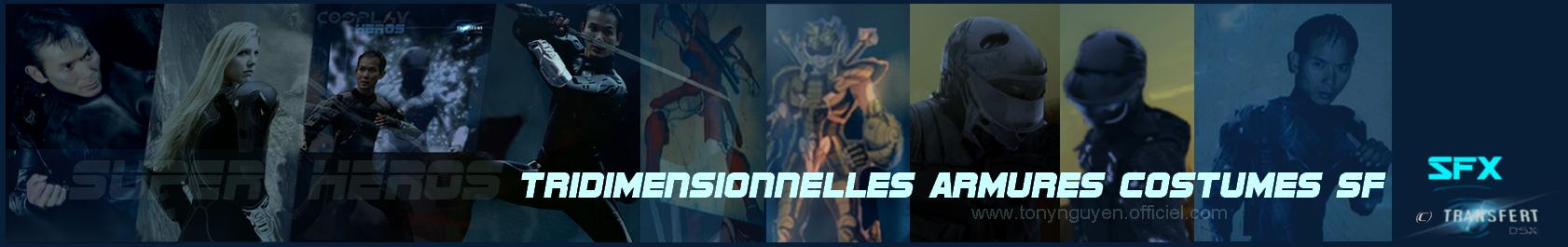 Banniere tridimensionnellesarmurescostumessf cosplayheros tonynguyen transfertdsx